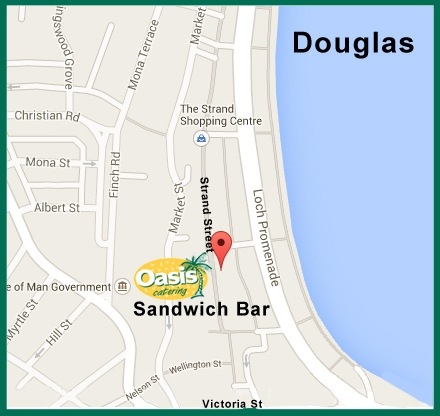map of oasis sandwhich bar strand street douglas